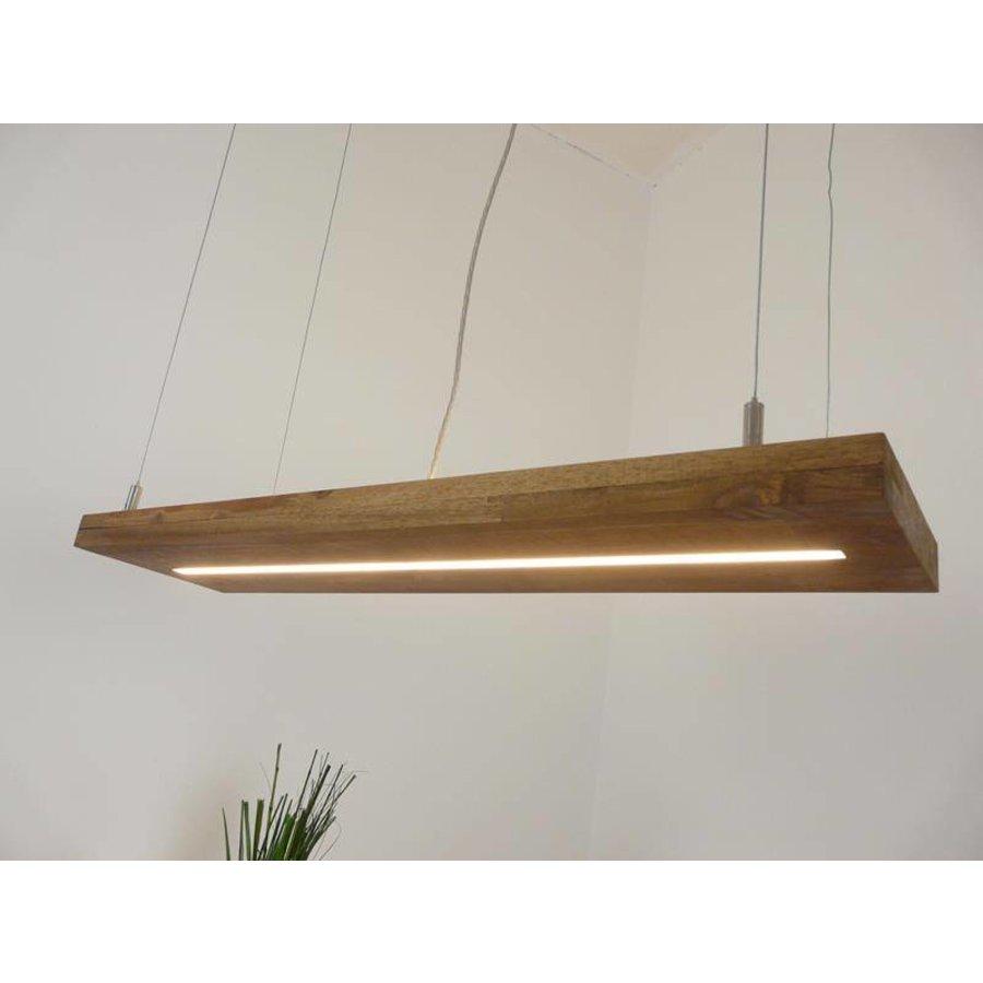 Hängelampe Holz Akazie mit Ober und Unterlicht-3