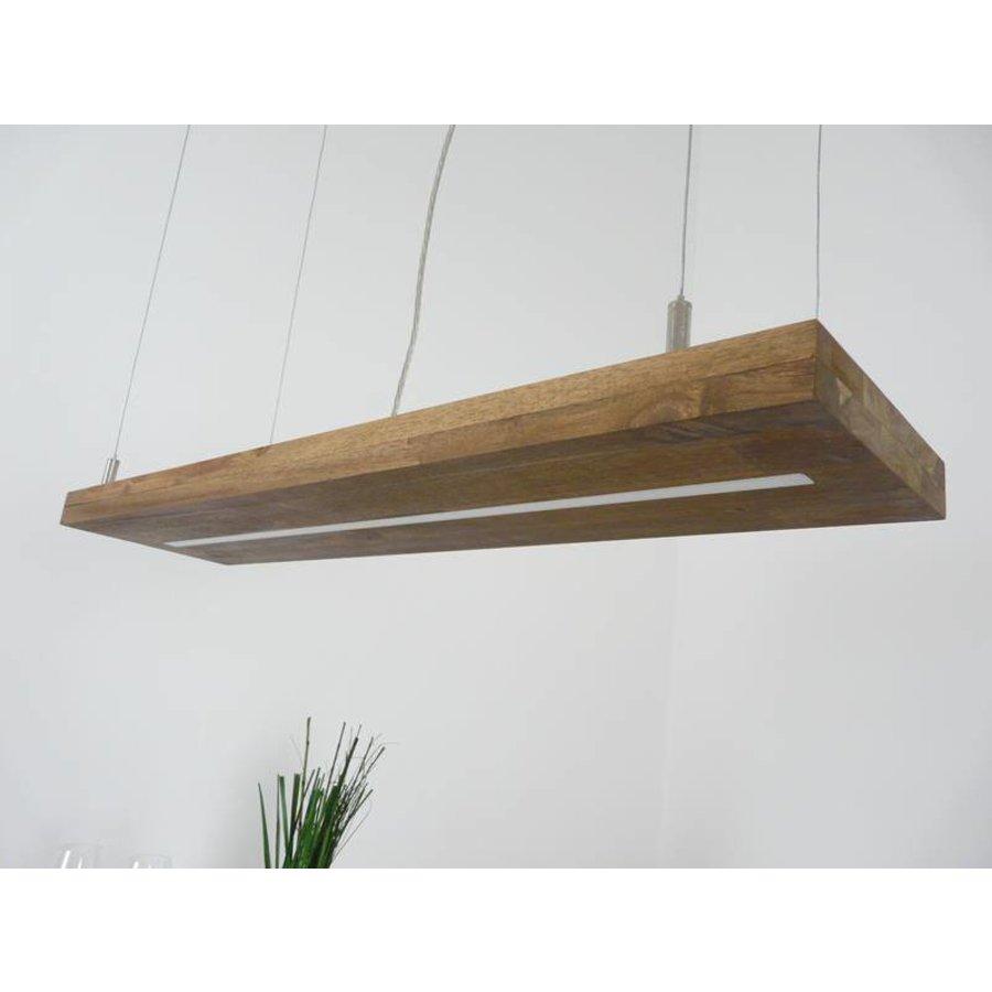 Hängelampe Holz Akazie mit Ober und Unterlicht-6
