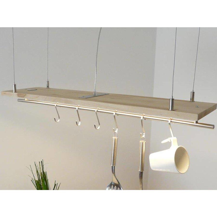 Hängeleuchte Küchenlampe Holz Buche Doppel Led Zeile-4
