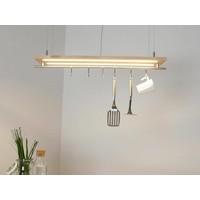 thumb-Hängeleuchte Küchenlampe Holz Buche Doppel Led Zeile-5