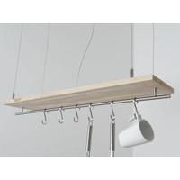 thumb-Hängeleuchte Küchenlampe Holz Buche Doppel Led Zeile-6