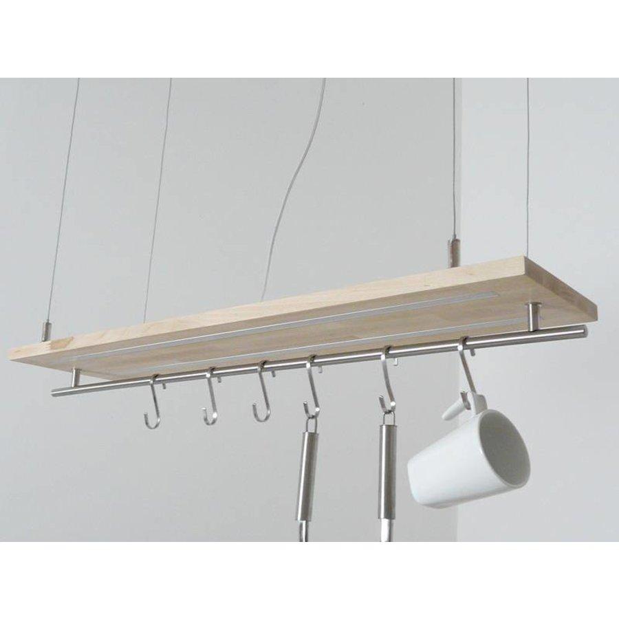 Hängeleuchte Küchenlampe Holz Buche Doppel Led Zeile-6