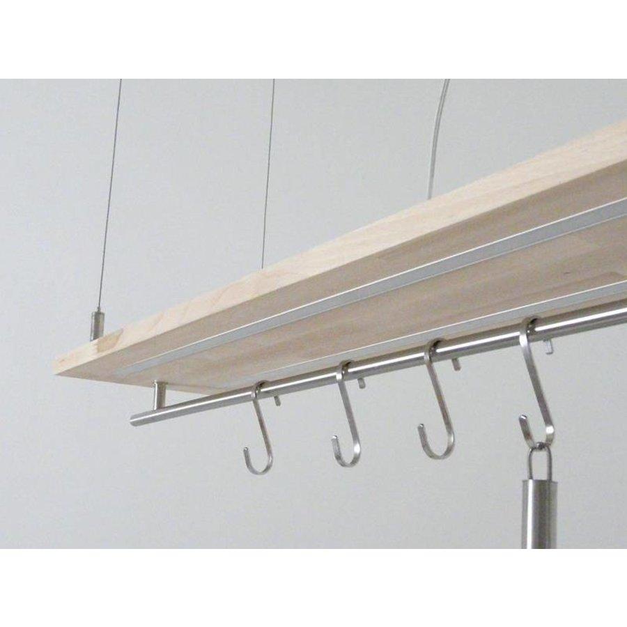 Hängeleuchte Küchenlampe Holz Buche Doppel Led Zeile-7
