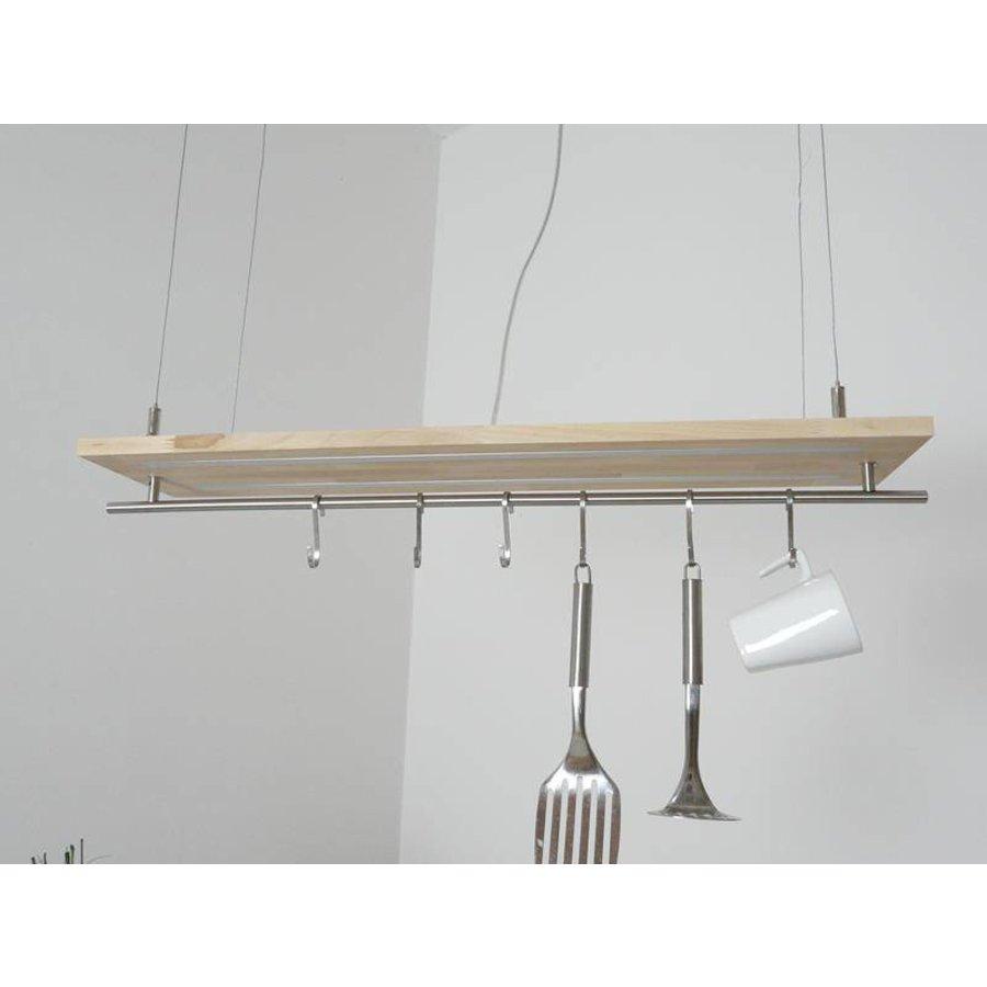 Hängeleuchte Küchenlampe Holz Buche Doppel Led Zeile-8