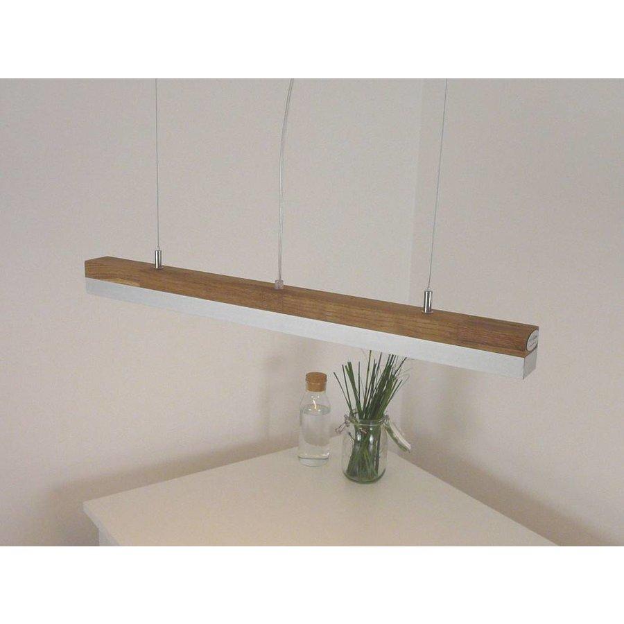 LED Hängelampe 80 cm Eiche geölt  Alublende-3