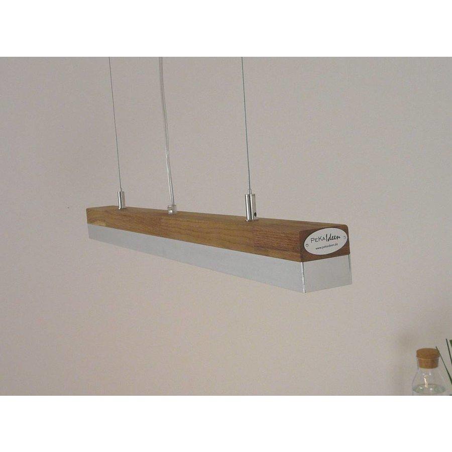 LED Hängelampe 80 cm Eiche geölt  Alublende-4