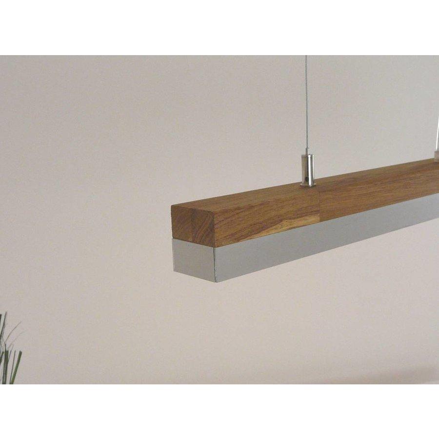 LED Hängelampe 80 cm Eiche geölt  Alublende-5