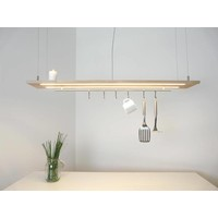 thumb-Esstischlampe Küchenlampe  Holz Buche-2