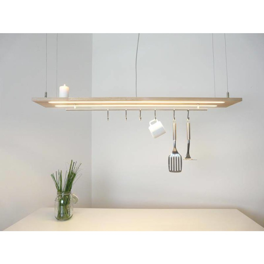 Esstischlampe Küchenlampe  Holz Buche-2