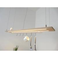 thumb-Esstischlampe Küchenlampe  Holz Buche-3