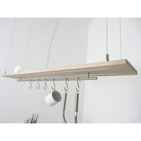 thumb-Esstischlampe Küchenlampe  Holz Buche-6