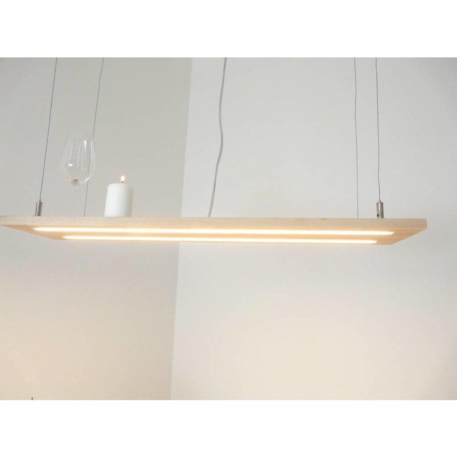 Hängeleuchte Holzlampe Buche Doppel Led Zeile-3