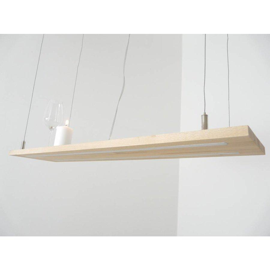 Hängeleuchte Holzlampe Buche Doppel Led Zeile-4