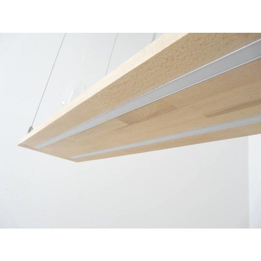 Hängeleuchte Holzlampe Buche Doppel Led Zeile-5