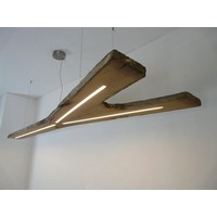 thumb-XXL LED Lampe Hängeleuchte antik Balken-2