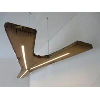 thumb-XXL LED Lampe Hängeleuchte antik Balken-3
