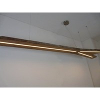 thumb-XXL LED Lampe Hängeleuchte antik Balken-5