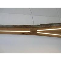 thumb-XXL LED Lampe Hängeleuchte antik Balken-8