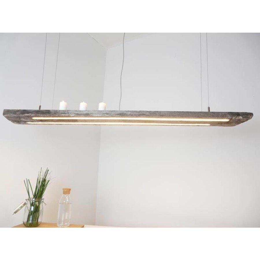 LED Lampe Hängeleuchte antik Balken graue Patina-1