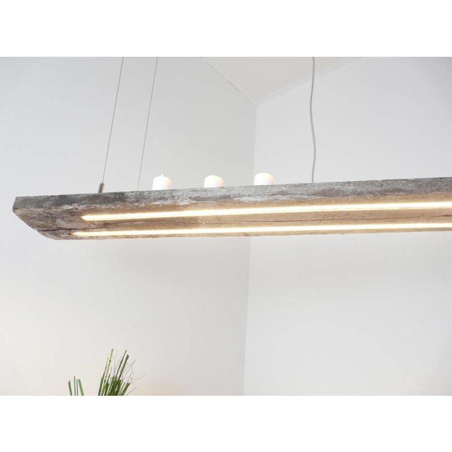 LED Lampe Hängeleuchte antik Balken graue Patina-2