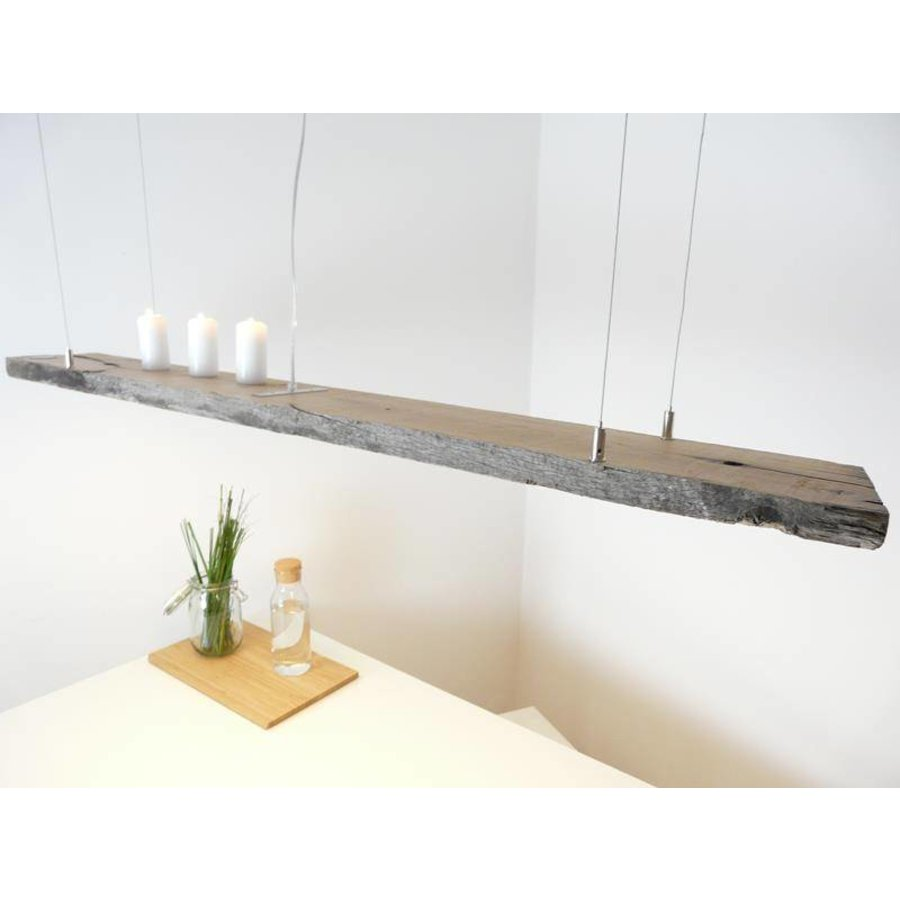 LED Lampe Hängeleuchte antik Balken graue Patina-4
