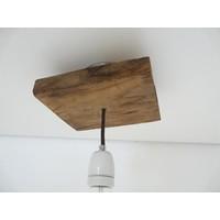 thumb-Deckenlampe aus rustikalen  Eichenholz-2