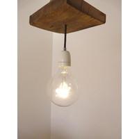 thumb-Deckenlampe aus rustikalen  Eichenholz-4