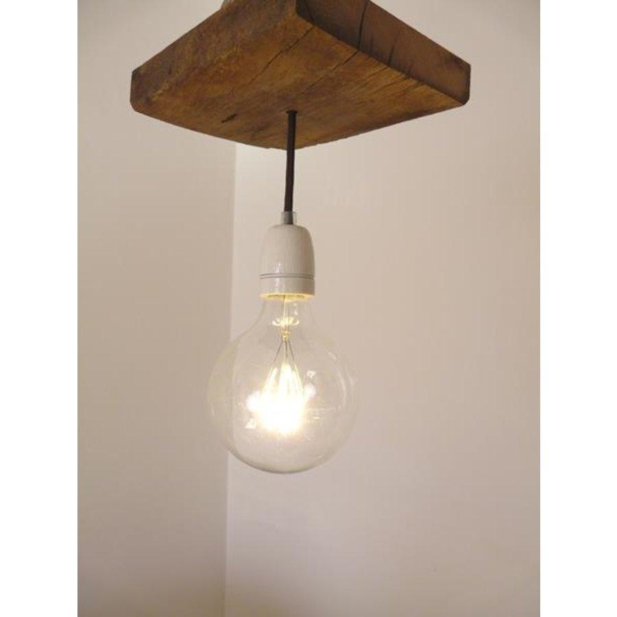 Deckenlampe aus rustikalen  Eichenholz-4
