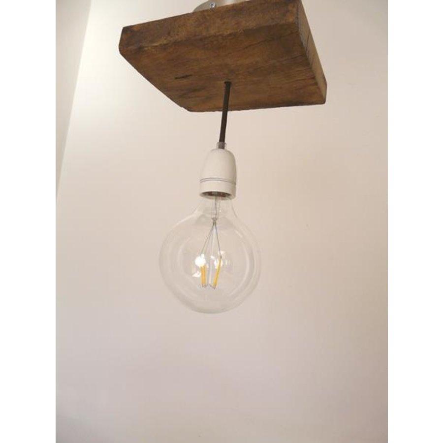 Deckenlampe aus rustikalen  Eichenholz-5