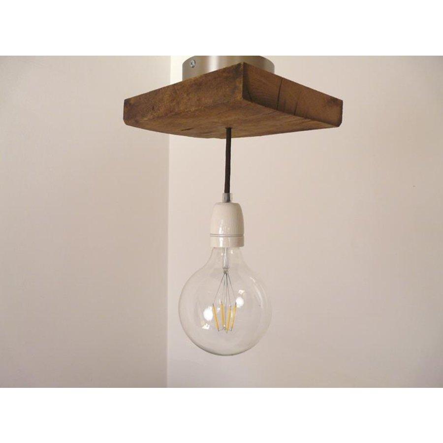 Deckenlampe aus rustikalen  Eichenholz-6