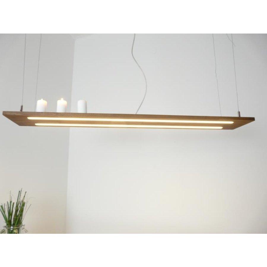Hängeleuchte Holzlampe Akazie Doppel Led Zeile --1