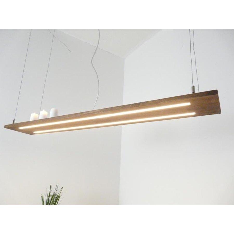 Hängeleuchte Holzlampe Akazie Doppel Led Zeile --2
