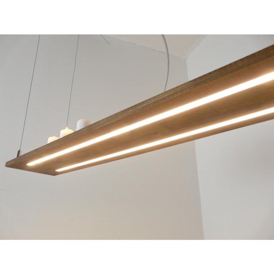 Hängeleuchte Holzlampe Akazie Doppel Led Zeile --3
