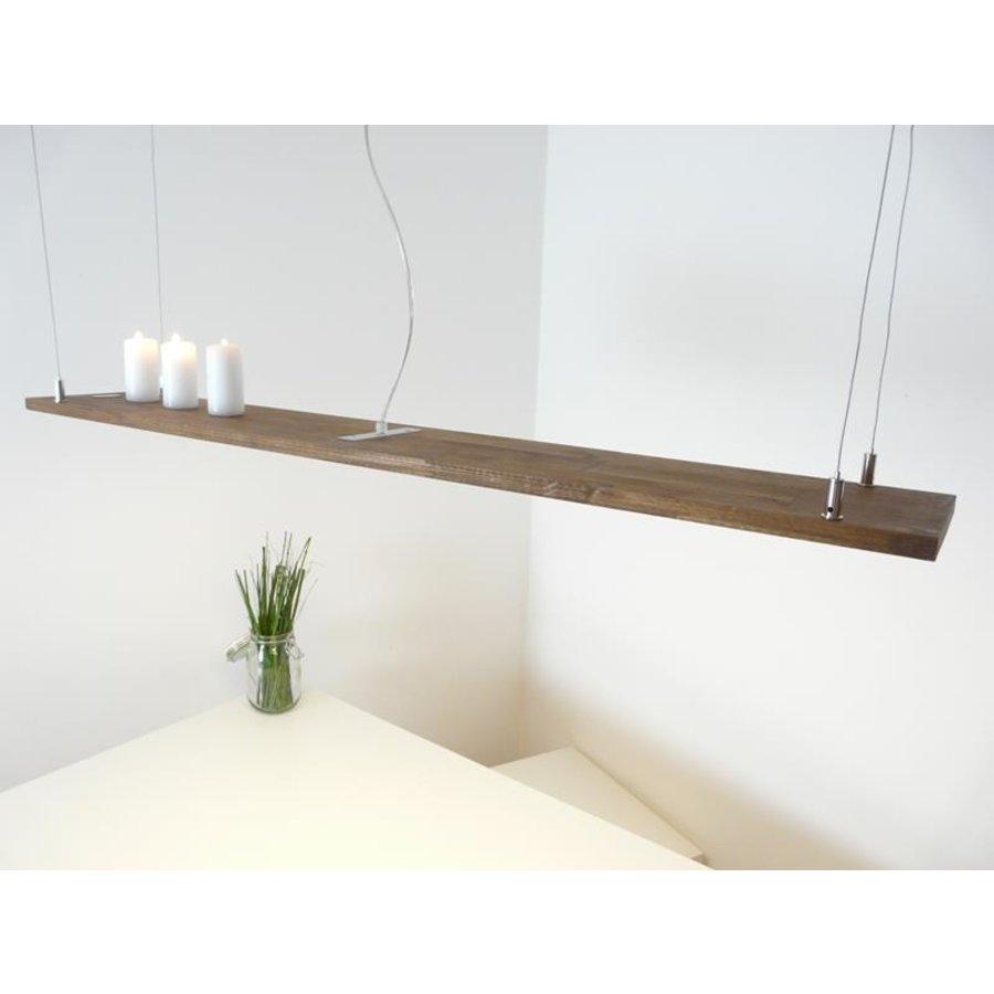 Hängeleuchte Holzlampe Akazie Doppel Led Zeile --4