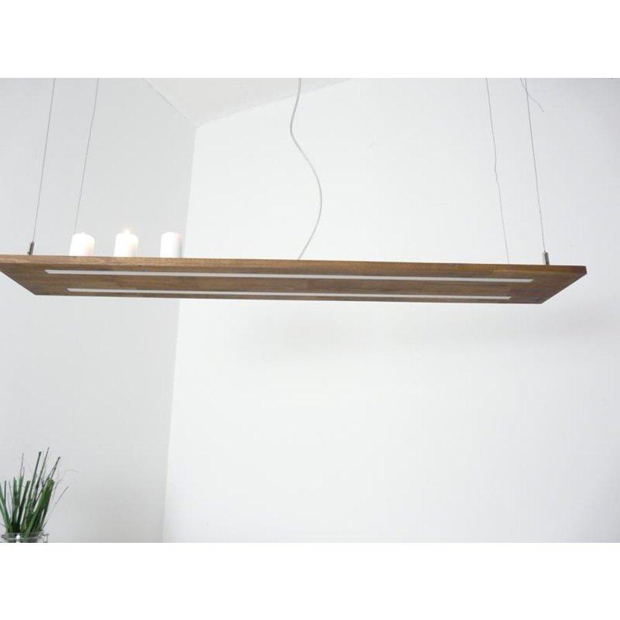 Hängeleuchte Holzlampe Akazie Doppel Led Zeile --5