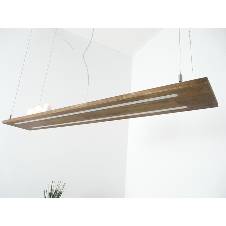 Hängeleuchte Holzlampe Akazie Doppel Led Zeile --6