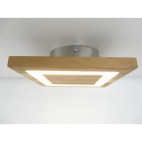 thumb-kleine LED Deckenleuchte Holz Eiche geölt  20 x 20 cm-1