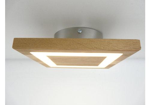 kleine LED Deckenleuchte Holz Eiche geölt  20 x 20 cm