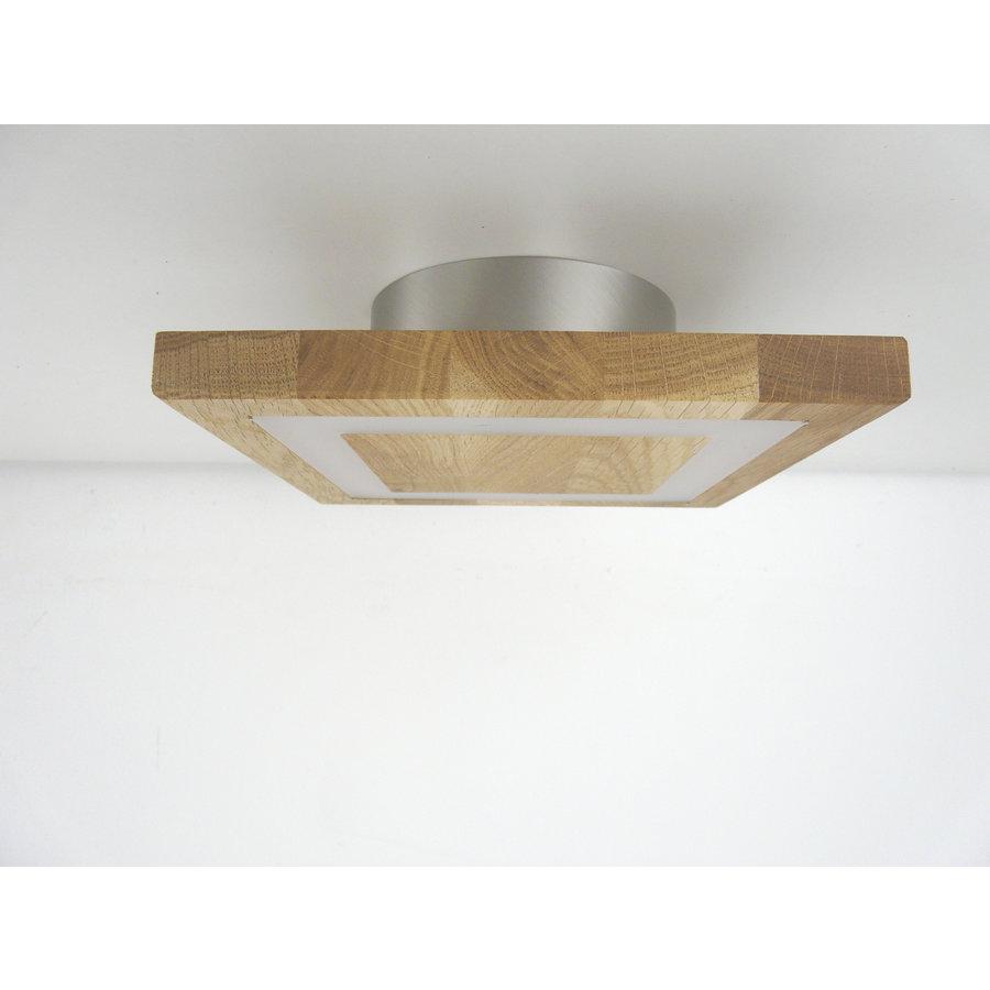 kleine LED Deckenleuchte Holz Eiche geölt  20 x 20 cm-5