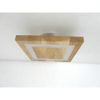 thumb-kleine LED Deckenleuchte Holz Eiche geölt  20 x 20 cm-6
