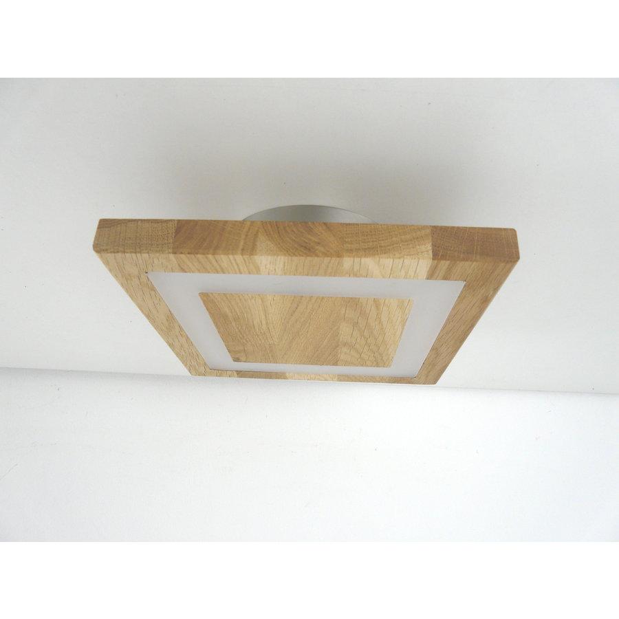 kleine LED Deckenleuchte Holz Eiche geölt  20 x 20 cm-6