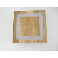 thumb-kleine LED Deckenleuchte Holz Eiche geölt  20 x 20 cm-7