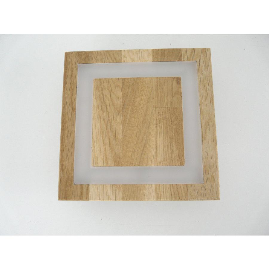 kleine LED Deckenleuchte Holz Eiche geölt  20 x 20 cm-7