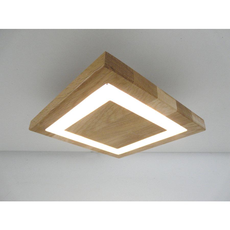 kleine LED Deckenleuchte Holz Eiche geölt  20 x 20 cm-3