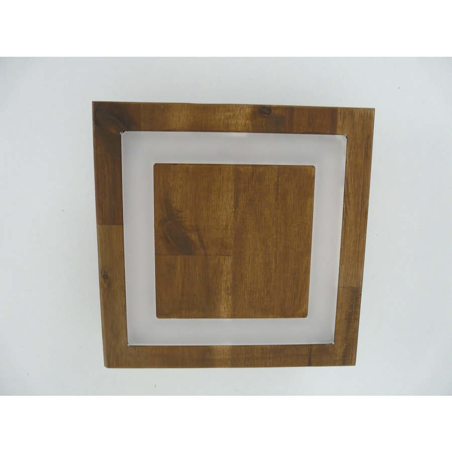 kleine Deckenleuchte Holz Akazie LED  20 x 20 cm-3