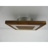 thumb-kleine Deckenleuchte Holz Akazie LED  20 x 20 cm-4