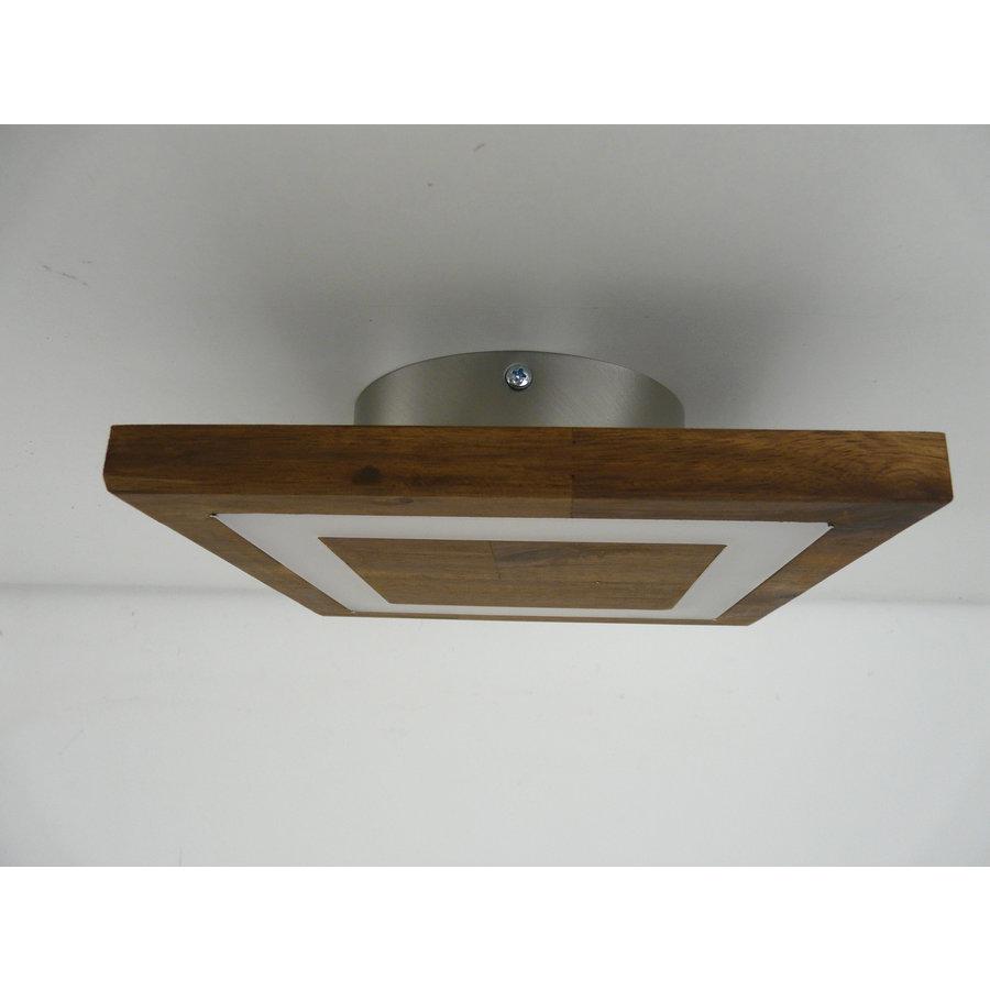 kleine Deckenleuchte Holz Akazie LED  20 x 20 cm-4