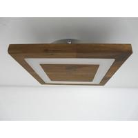 thumb-kleine Deckenleuchte Holz Akazie LED  20 x 20 cm-5