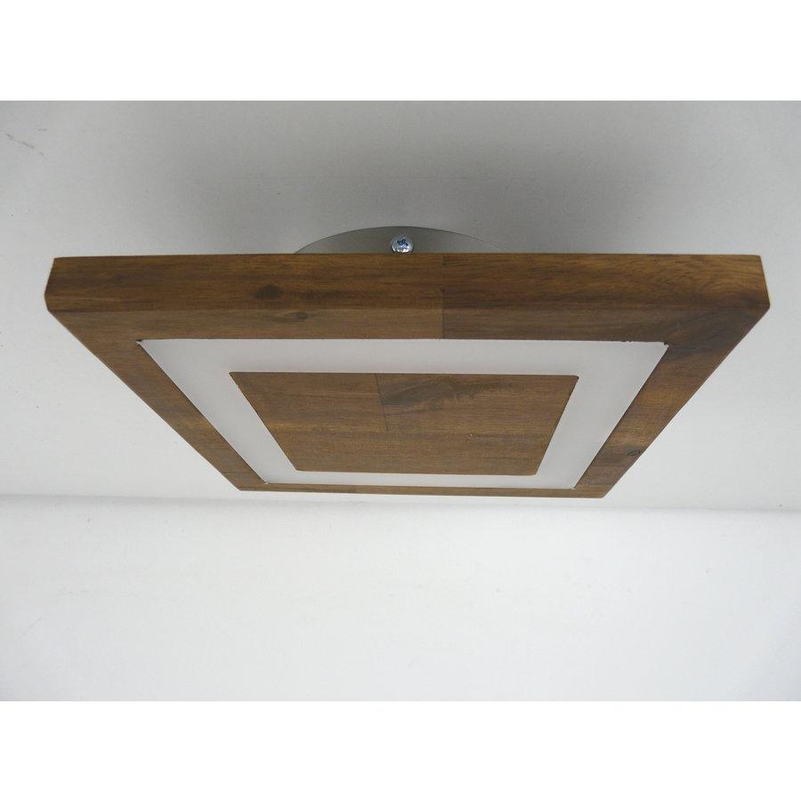kleine Deckenleuchte Holz Akazie LED  20 x 20 cm-5