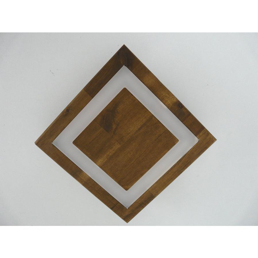 kleine Deckenleuchte Holz Akazie LED  20 x 20 cm-6